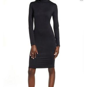Leith mock neck long sleeve bodycon minidress